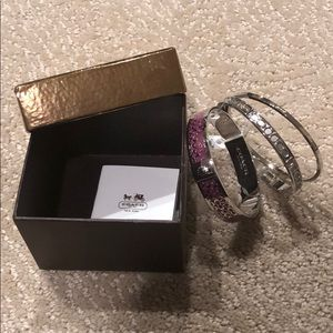 Coach Boxed Signature Bangle Set